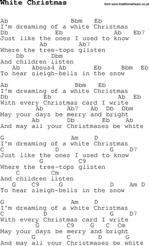 pictures of you testo carol song lyrics with chords for white