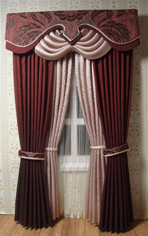 doll house curtains miniature 1 12 dollhouse curtains made to order