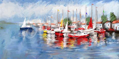 imagenes de barcos modernos cuadros de marinas con barcos cuadros splash modernos