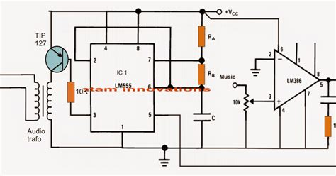 integrated circuit 555 projects class d lifier circuit using ic 555 electronic circuit projects