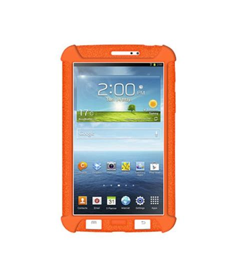 Samsung Tab 3 7 0 T2110 amzer 96087 silicone skin jelly orange for samsung