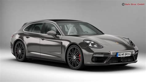 porsche sports car models porsche panamera sport turismo turbo 2018 3d model buy