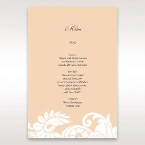 sle menu card for wedding reception stand out with adorn s matching wedding menu cards
