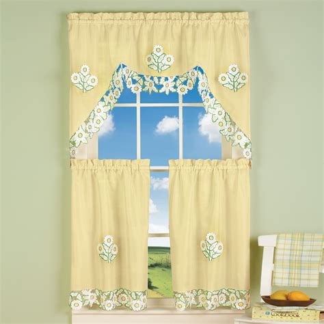 daisy curtains yellow embroidered daisy curtains by collections etc ebay