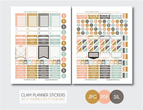 monthly set be bold planner addiction monthly set shabby chic planner addiction printable