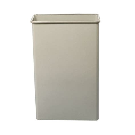 tall trash can safco tall rectangular wastebasket at kitchensource com
