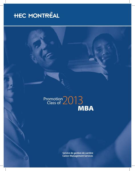 Hec Montreal Mba by Album Cv Mba2013 By Dr Alain Chamoun Issuu