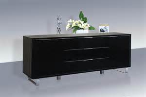 Bedroom Furniture Boston accent sideboard high gloss black lpd furniture