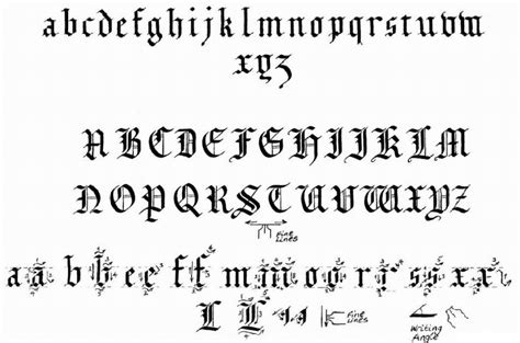Black Letter Pdf Learn Calligraphy Blackletter Alphabet Or