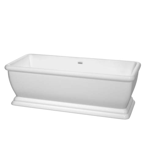 7 ft bathtub wyndham collection candace 5 7 ft acrylic classic