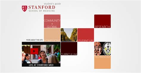 a website designed for stanford school s