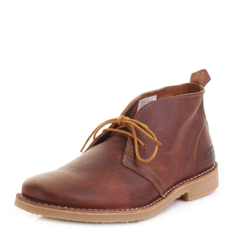 mens jones gobi desert leather cognac lace up ankle