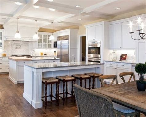 kitchen with two islands two island kitchen houzz
