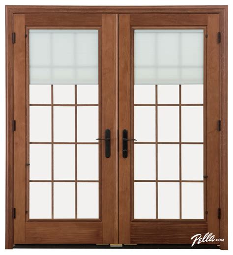 Contemporary Patio Doors Pella 174 Designer Series 174 Hinged Patio Door Contemporary Patio Doors Other Metro By Pella