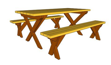 wooden picnic table plans myoutdoorplans