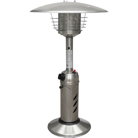 Patio Umbrella Heater Hanover Mini Umbrella Tabletop 11 000 Btu Stainless Steel Propane Patio Heater Han0203ss The