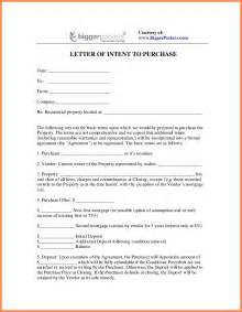Letter Of Intent For Exles by Letter Of Intent To Purchase Excel Form Design