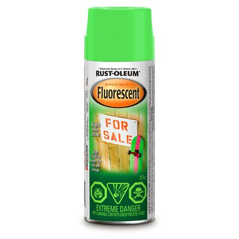 spray painter canada rust oleum fluorescent 312g gloss spray paint lowe s canada