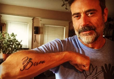 jeffrey dean morgan tattoos could jeffrey dean s sweet soften up twd s