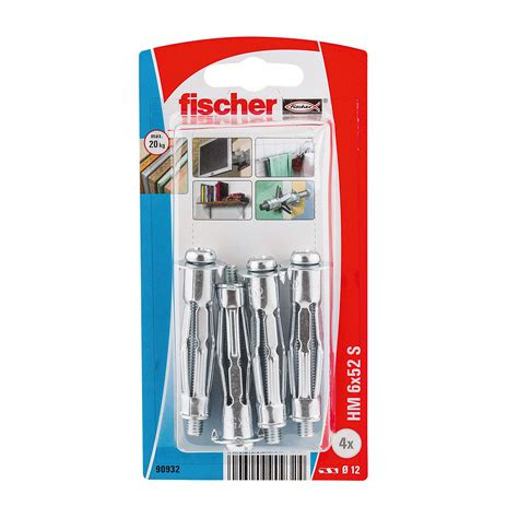 fischer steel hollow wall anchor pack   departments