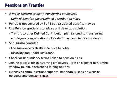 Pension Transfer Value Letter A Transition Methodology For Business Transfers And Aquisitions Jan