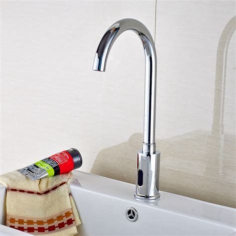 barth free touchless chrome bathroom sink faucet