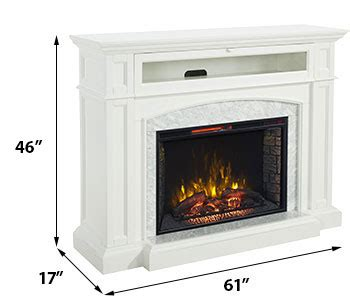 drew infrared electric fireplace tv stand in white cs