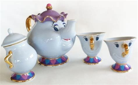 beauty and the beast pot disney beauty and the beast mrs pot and chip tea cup and