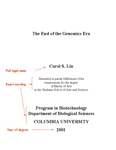 exles of dissertation titles thesis title page