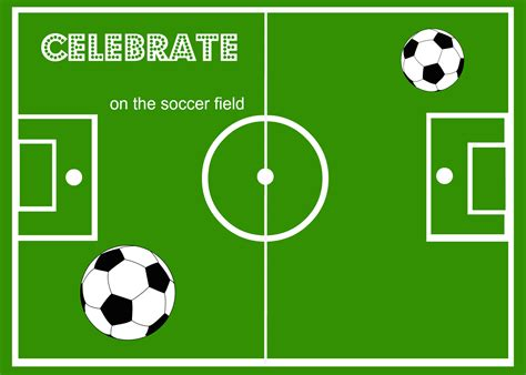 soccer invitation template soccer theme ideas around my family table