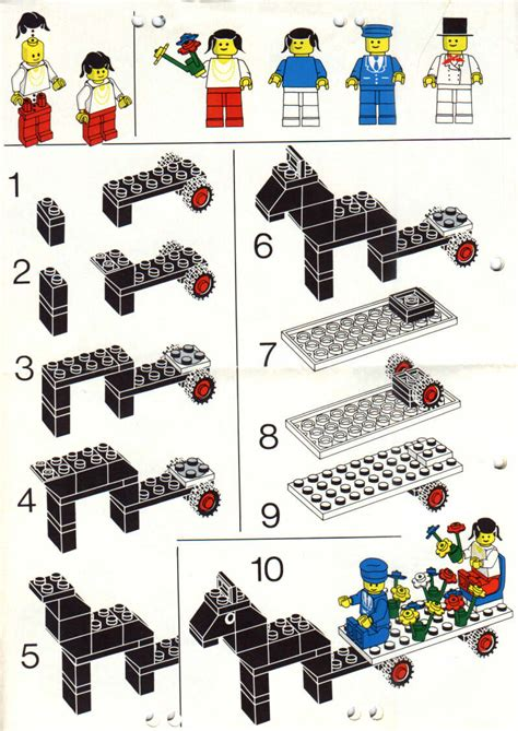 printable lego directions lego castle town square instructions 1592 city
