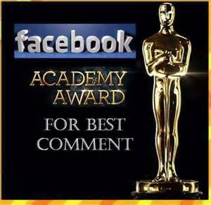 How To Put Memes On Facebook Comments - academy award humor pinterest humor
