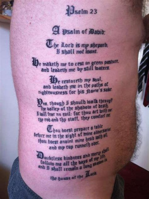 image gallery psalm 23 tattoo