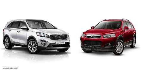 Compare Kia Sportage And Sorento Kia Sorento Vs Holden Captiva 7 Comparison 183 New Suvs