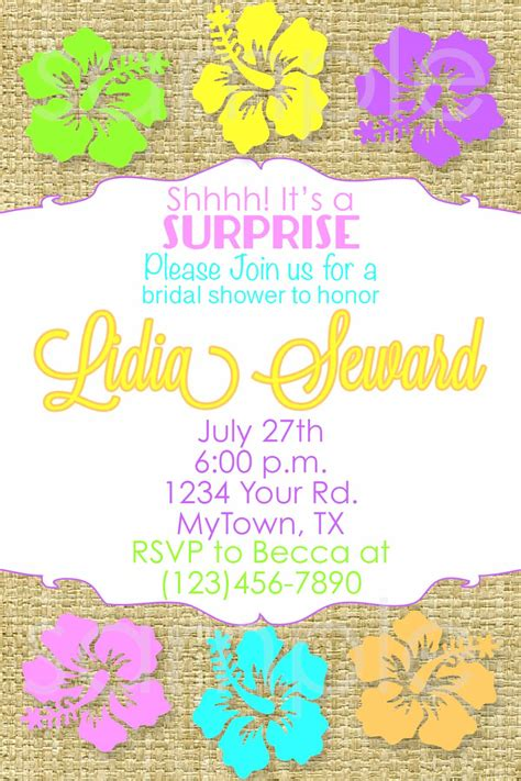 printable invitations hawaiian party hawaiian bridal shower invitation hawaiian birthday