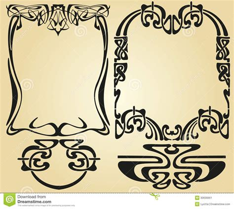 art nouveau design framework stock vector illustration