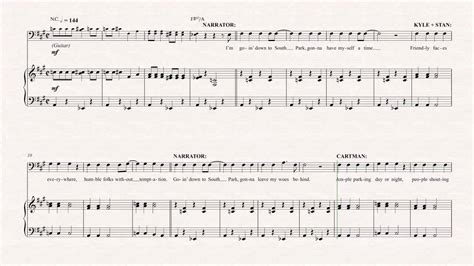 theme music north and south tuba theme song south park sheet music chords