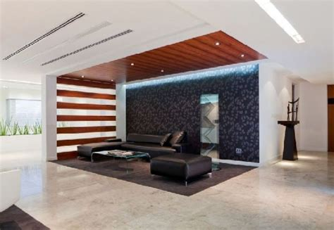 Waiting Area Interior Design by Linear Wood Ceiling With Wood Slat Wall Commercial