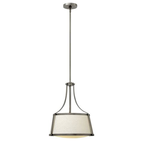 Sloping Ceiling Lights by Antique Nickel Pendant Light With Fabric Shade For Sloping
