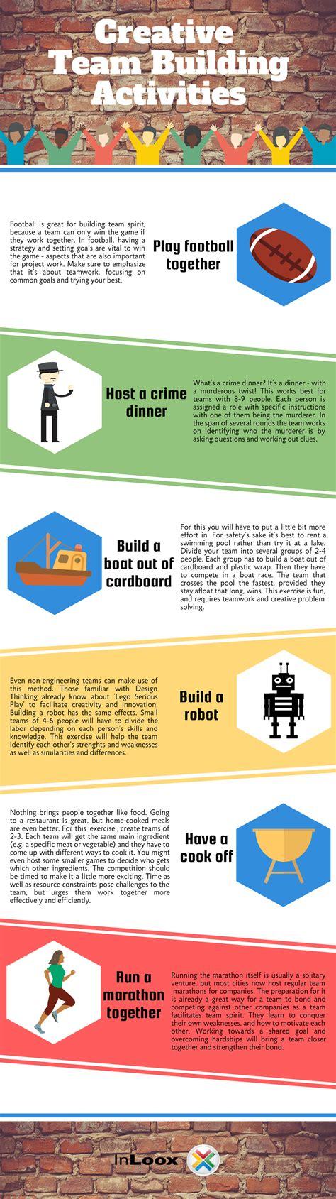 Activities Graphic 1 infographic creative team building activities inloox