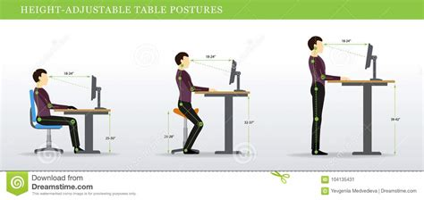 correct height for standing desk correct postures for height adjustable and standing desks