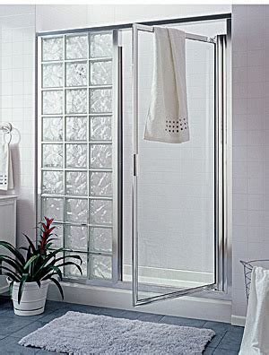 Glass Block Doors Glass Block Shower Within A Frame Includes A Door I Like This Better Than All Open After The