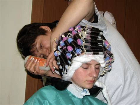 sissy perm rollers salon boy in curlers in salon newhairstylesformen2014 com