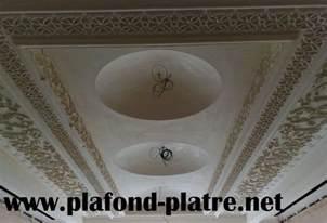 d 233 coration de salon marocain moderne plafond en pl 226 tre