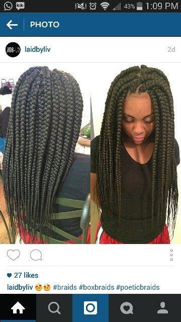 box braids thick thick box braids hair pinterest thick box braids and