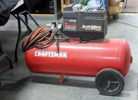 sears craftsman air compressor 3 1 2 hp 25 gal model 919 155731 untested