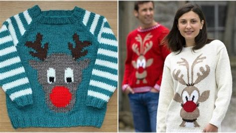 knitting pattern christmas jumper reindeer christmas sweater knitting patterns loveknitting blog