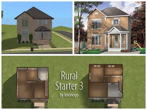 Mod The Sims 3 Rural Starter Homes Sims 3 Starter House Plans