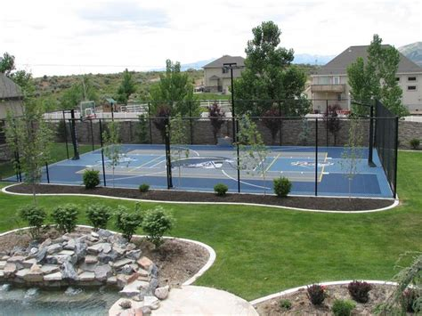 backyard pool and basketball court backyard courts gallery sport court backyard