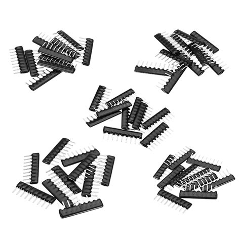 10k X 8 Sip9 Resistor Array Pack Network Pin A103g 150pcs 5 values a09 9 pin 2 54mm resistor pack network resistor array component pack 30pcs each